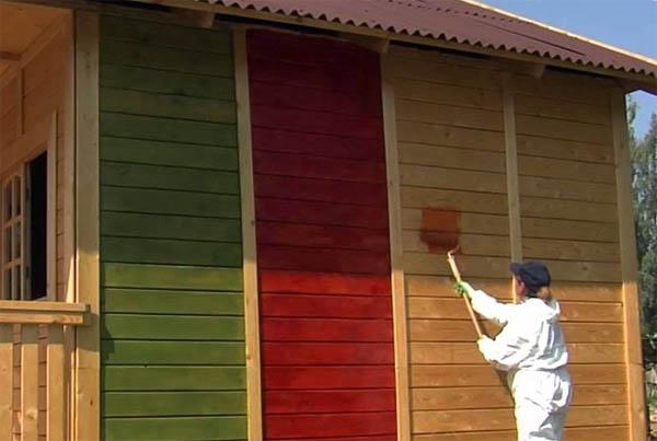 Покраска деревянного дома снаружи своими руками фото