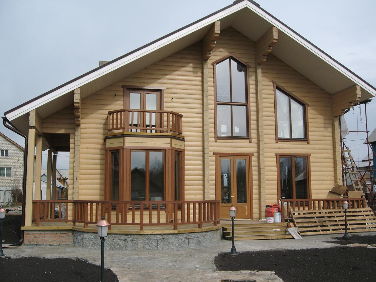 Фото деревянных домов покрашенных